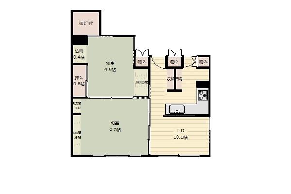 仙台のマンションリノベーション事例_図面1