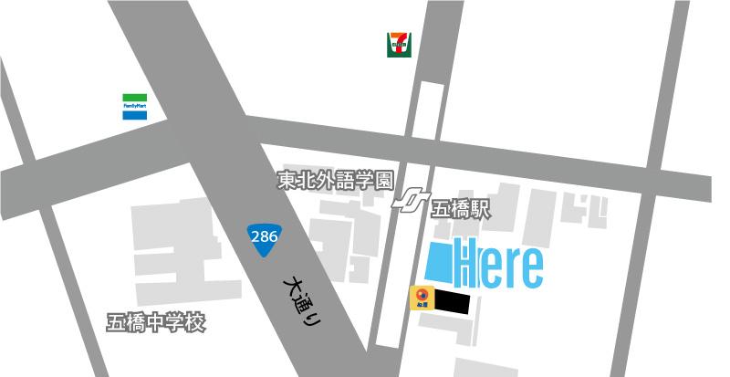 エステート五ツ橋 マップ 地図
