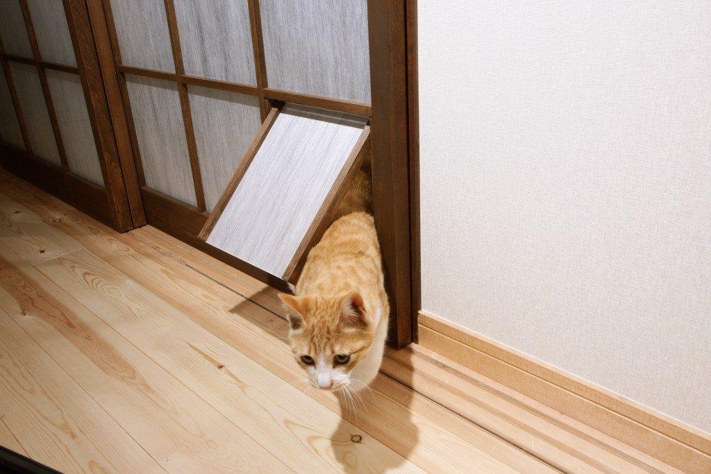 ペット用ドア 建具 リノベーション