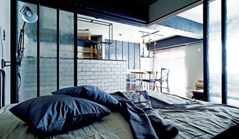 寝室 ベッドルーム インダストリアル