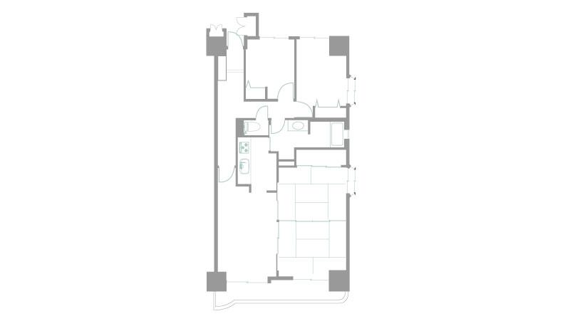 仙台福室の物件図面