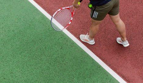 敷地内にはテニスコートが